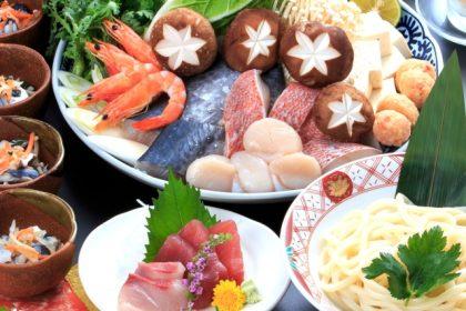 冬季限定「鍋会席コース」2500円(税抜)