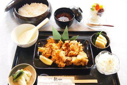 菊水の「唐揚げ定食」1000円(税抜)